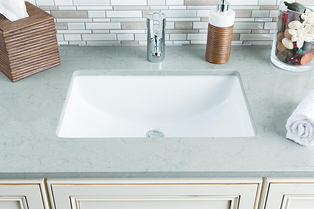 Drop In And Undermount Ceramic Bathroom Sinks | ShopHahn.com.