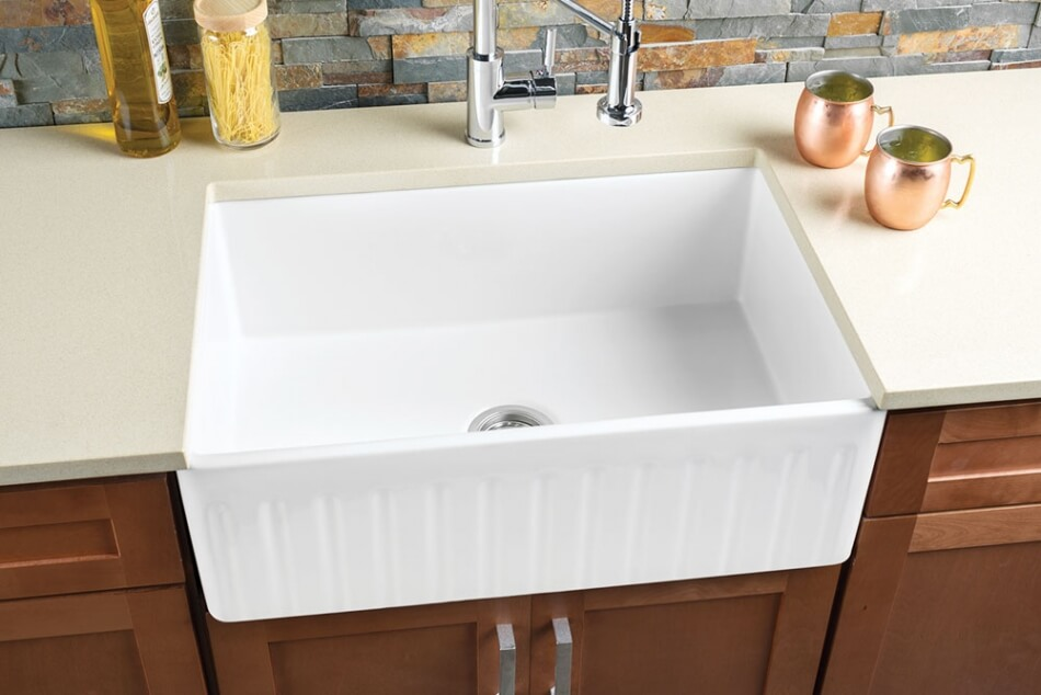 Hahn-FireClay-Large-Reversible-Single-Bowl-Sink