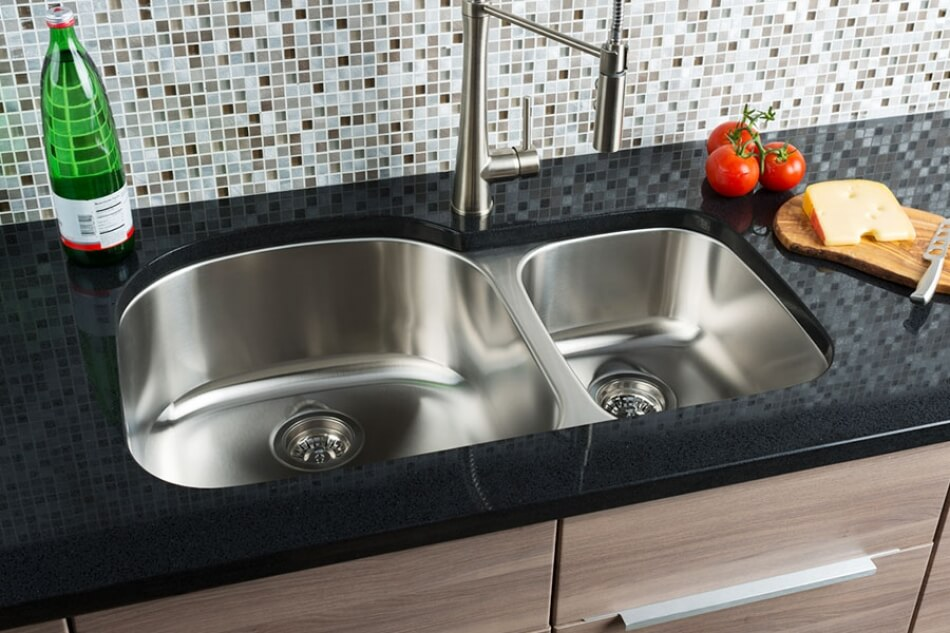 Hahn-Chef-Series-Extra-Large-70/30-Double-Bowl-Sink