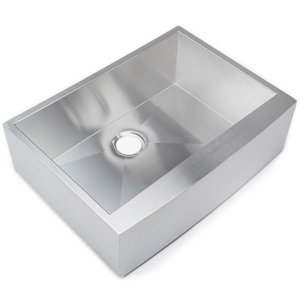 Hahn Notched Farmhouse Kitchen Sink: Every HAHN Sink Is Sprayed With A Non-toxic Undercoating